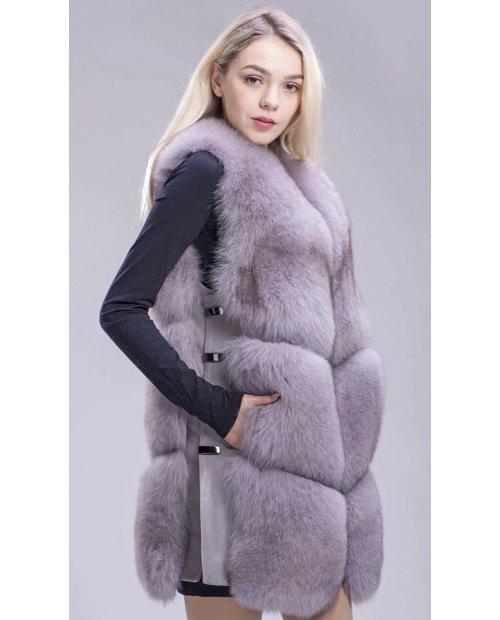 Nový model/ Kožešinová vesta z lišky - splývavá