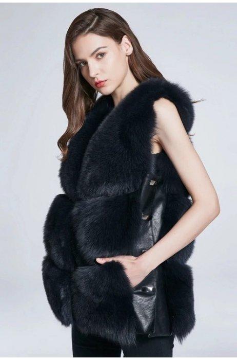 Nový model/Jarní kožešinová vesta z lišky