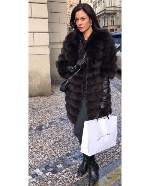 Kožešinový kabátek 4 v 1 z lišky na zip