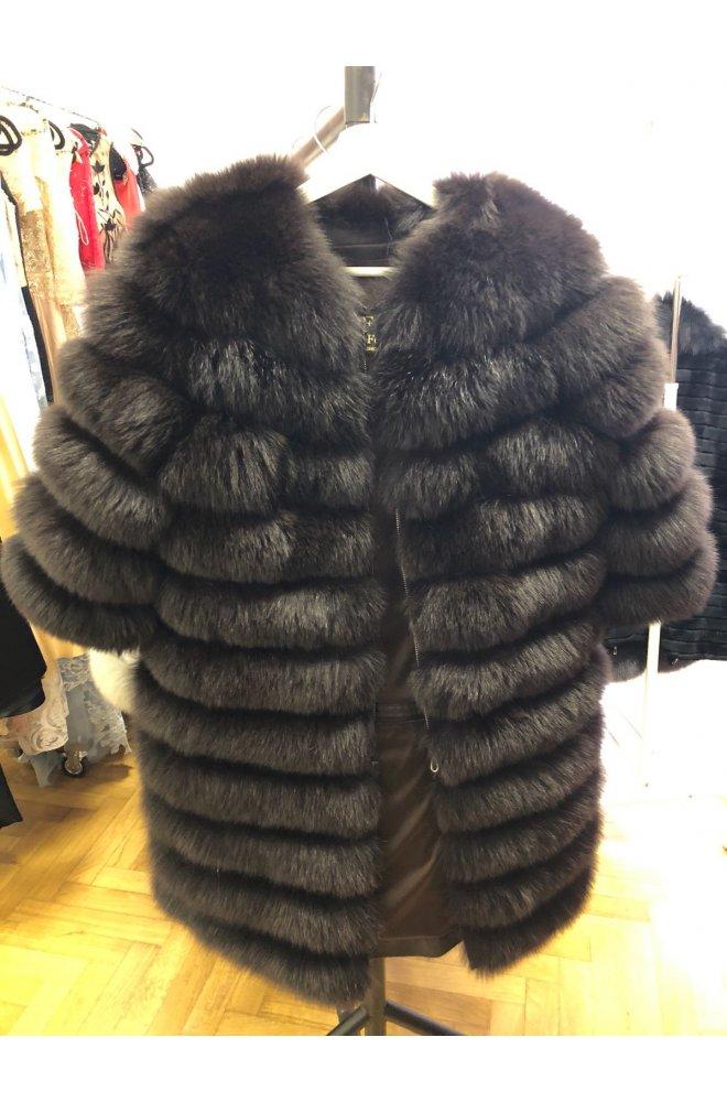 Kožešinový kabátek 4 v 1 z lišky na zip - Sienne.cz 55077e132b