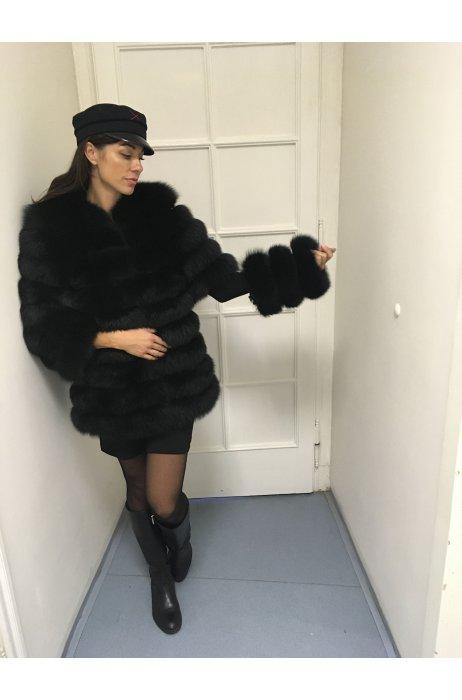 Kožešinový kabátek 5 v 1 na zip z lišky