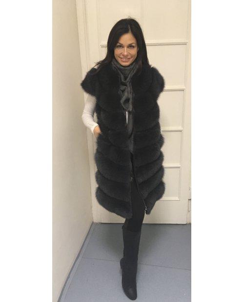 Nový model/střih  kožešinové vesty z lišky
