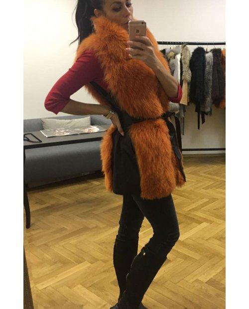 Kožešinová vesta z lišky s páskem - dovoz Řecko
