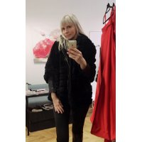 Fashion kabátek REX Rabbit s ozdobným knoflíkem