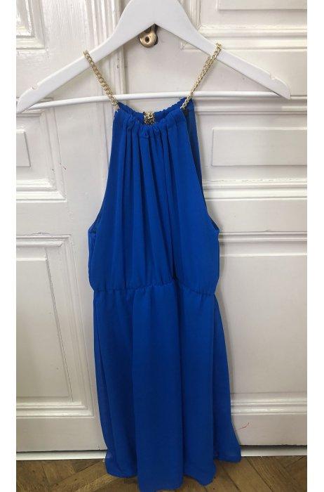 Letní hedvábné šaty s řetízky