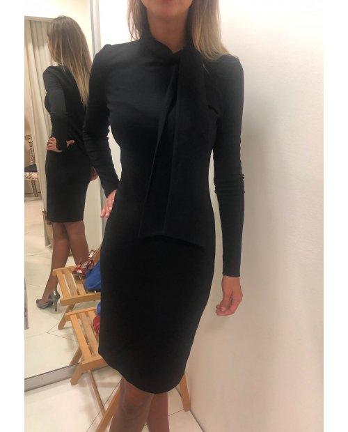 Úpletové vlněné elegantní šaty dl. rukáv