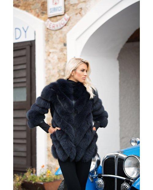 Kožešinový kabátek z lišky na zip