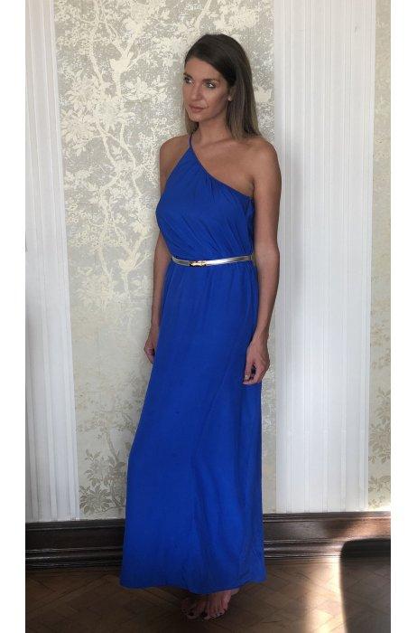 Hedvábné dlouhé šaty v barvě Royal blue