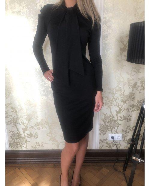 Vlněné elastické úpletové šaty s dl. rukávem