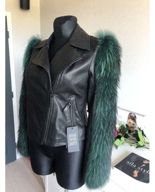 Luxusní kožená bunda s kožešinou FARAH KIMIA
