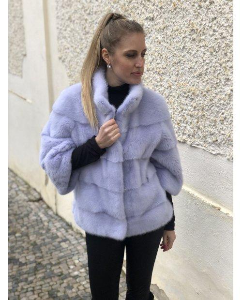 Norkový kabátek  s 3/4 rukávy v barvě lila