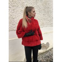 Norkový červený kabátek NAFA
