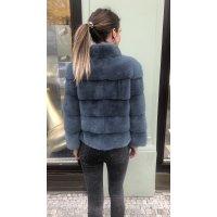 Norkový kabátek NAFA v barvě tmavé tyrkys