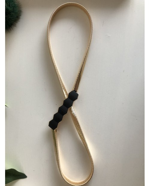 Fashion elastický pásek s černým doplňkem