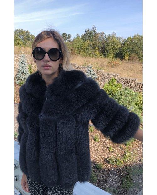 Nový model / kožešinový kabátek z lišky na zip