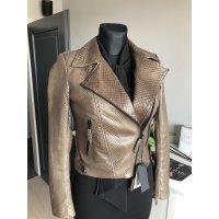 Fashion kožená bunda z pravé hadí kůže