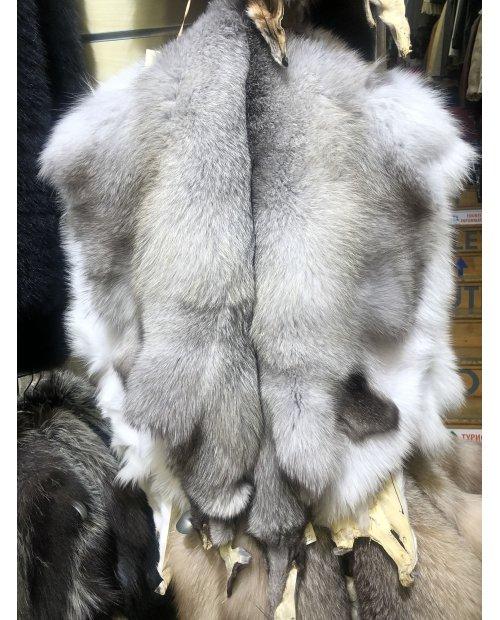 Bílá liška dlouhý chlup