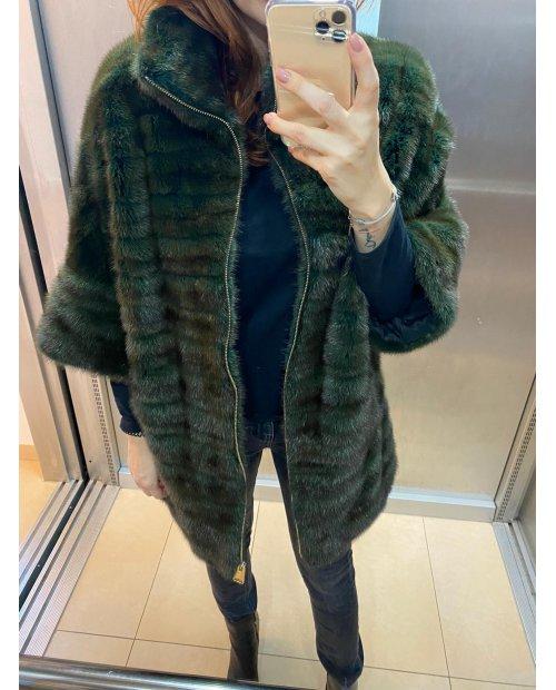 Nadčasový norkový kabátek