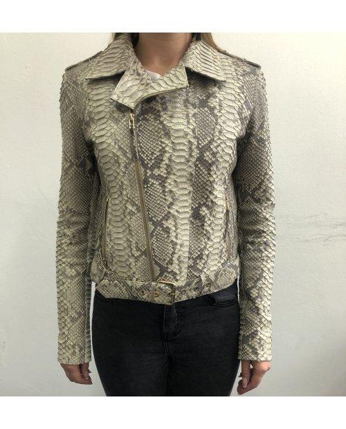 Hadí matná kožená bunda