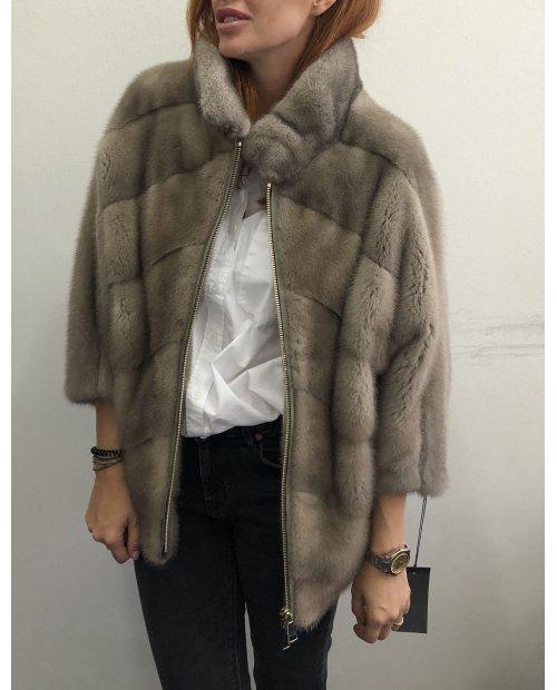Norková nafa fashion bunda zdobena zipy