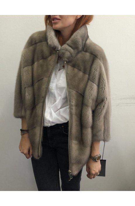 Norková fashion bunda zdobena zipy