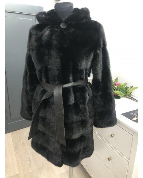 Norkový kabát s kapucí NAFA