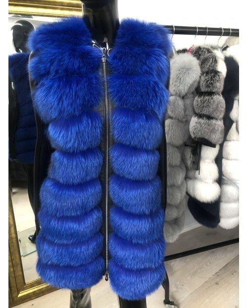 Kožešinová vesta z lišky Royal blue