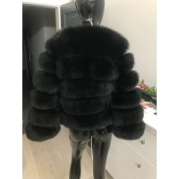 Kožešinový kabátek z lišky - černá