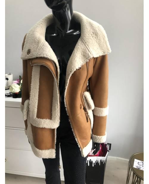 Zimní jehněčí vyteplený kabátek