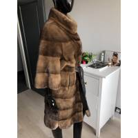 Norkový dlouhý kabát s 3/4 rukávy