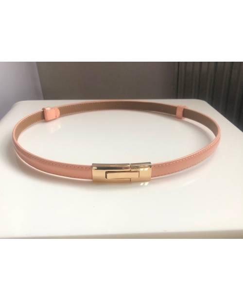 Fashion elegantní pásek se zlatou sponou