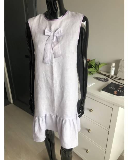 Dámské lněné šaty s kanýrem