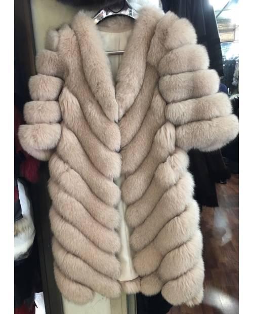 Fashion kožešinový kožíšek s výstřihem do V