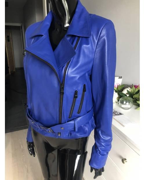 Dámská kožená bunda v barvě Royal blue