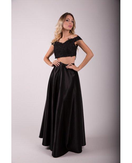 Dlouhá večerní saténová sukně