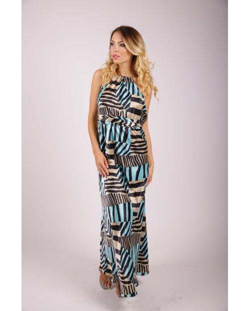 Saténové letní šaty s holými zády