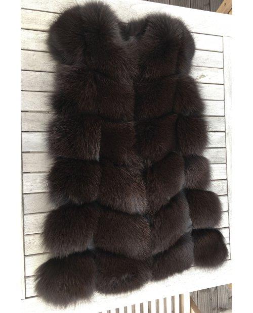 Kožešinová vesta z lišky 70cm