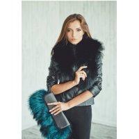 Fashion kožené kabelky s kožešinou