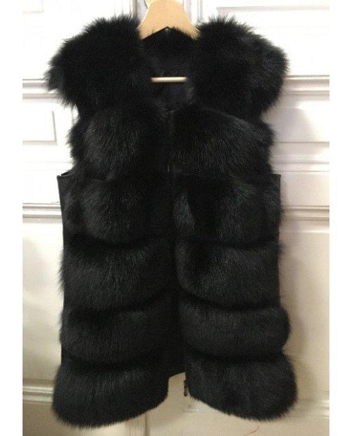 Luxury kožešinová vesta se zipy