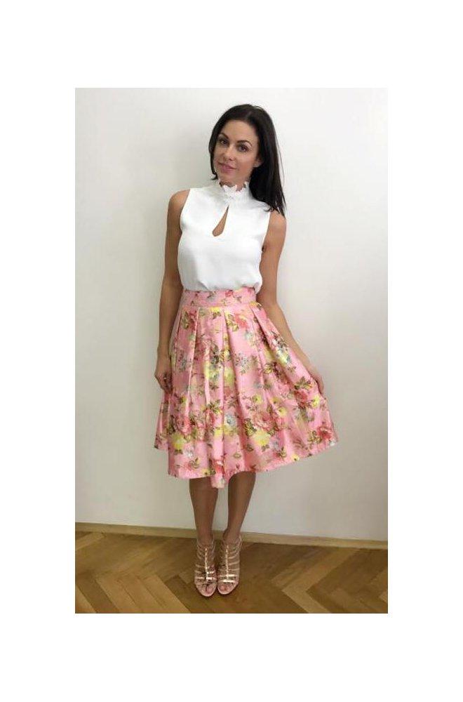 Brokátová skládaná sukně - Sienne.cz df88cb55ee
