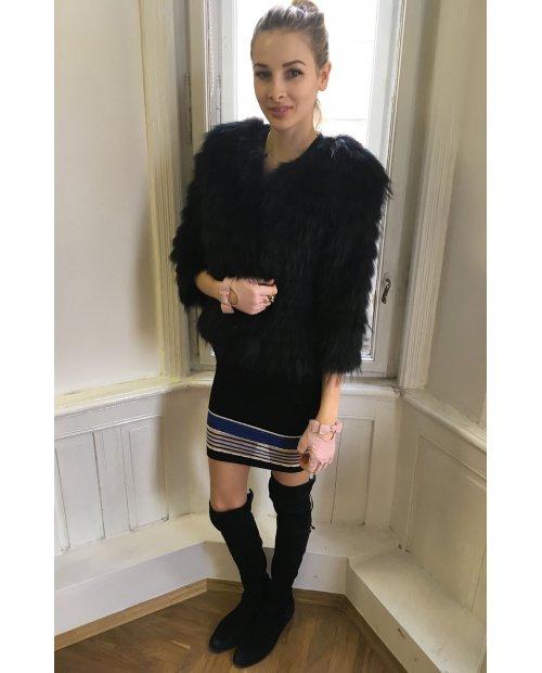 Fashion jarní/podzimní  kabátek z lišky