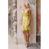 New model/ Krajkové žluté šaty