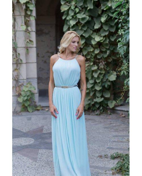 Plisé letní dlouhé šaty