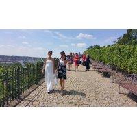 Svatební šaty s krajkou a hedvábným chiffonem